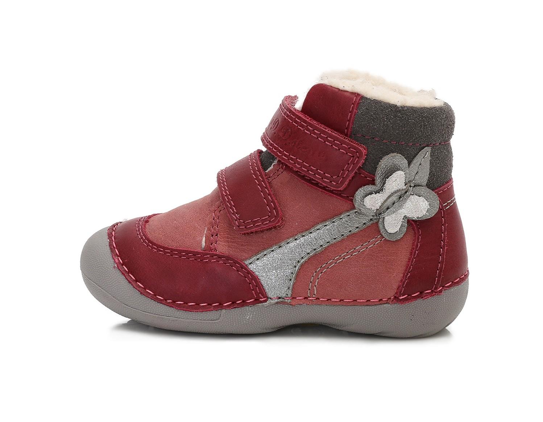 5632150d011 Dětské zimní boty D.D.STEP 015-157A červené vel.24