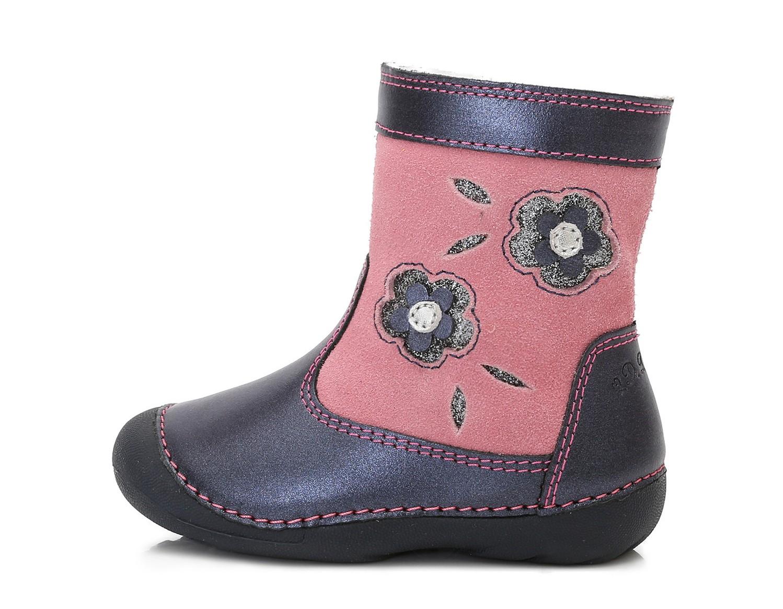 Dětské zimní boty D.D.STEP 015-159A kytičky vel.23  90732292f4