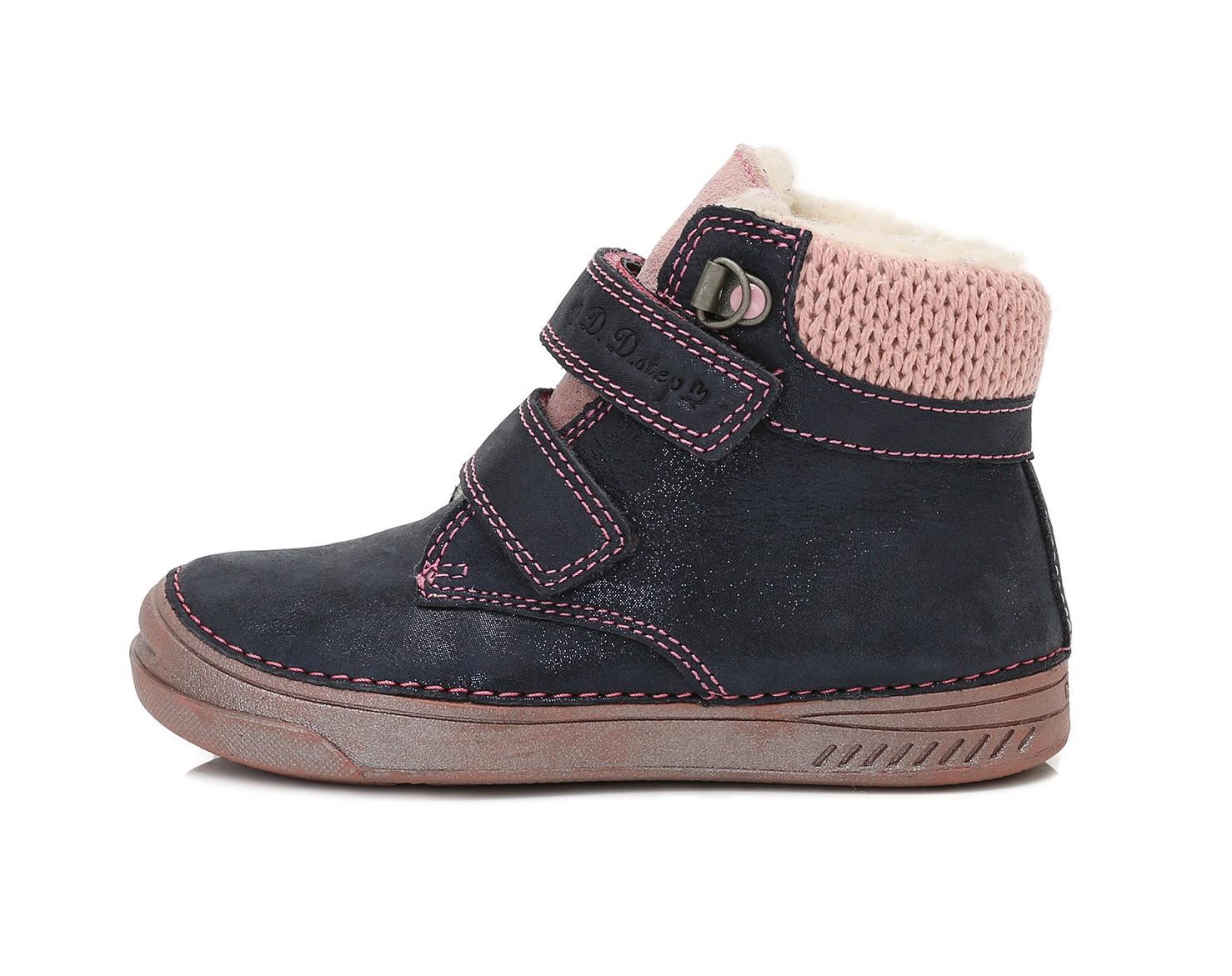 Dětské zimní boty D.D.STEP 040-423CL modro-růžové vel.34 empty 057d666477