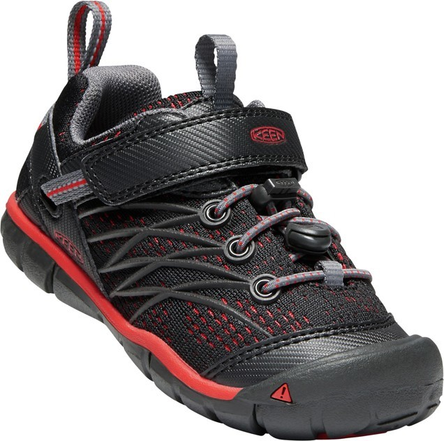 KEEN Chandler CNX raven/fiery red vel.30