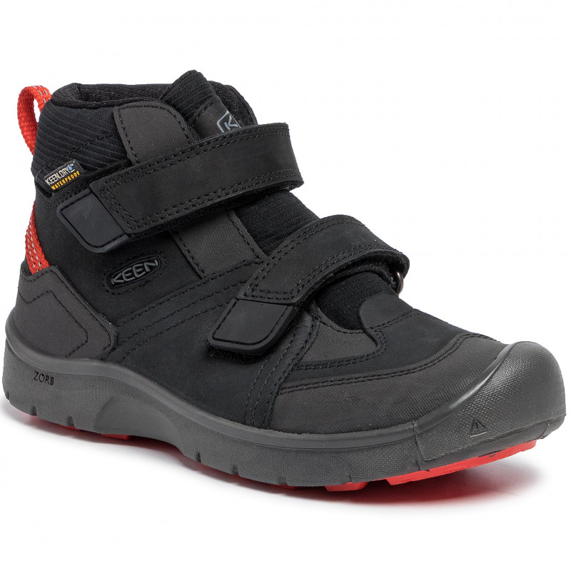 KEEN HIKEPORT MID WP K black/bright red vel.30
