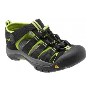 KEEN Newport H2 K black/lime green vel.37