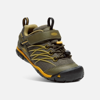 KEEN CHANDLER CNX WATERPROOF dark olive/citrus vel.25/26