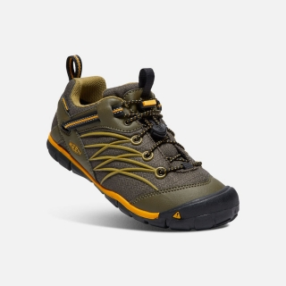 KEEN CHANDLER CNX WATERPROOF dark olive/citrus vel.34