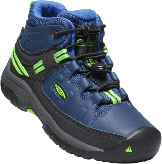 KEEN TARGHEE MID WP JR blue opal/bright green vel.36